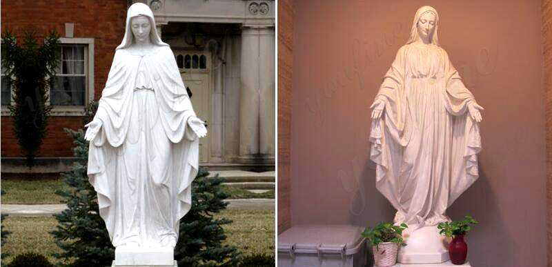 life size our lady of marble virgin mary statues for sale