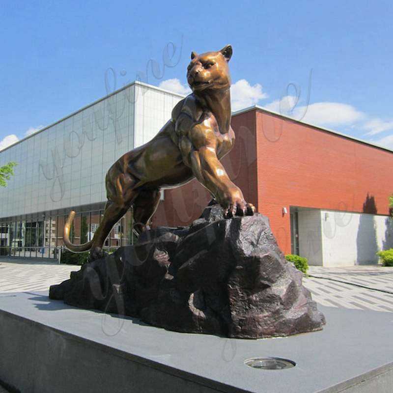 outdoor-decoration-life-size-metal-panther-statue