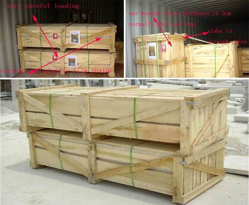 package of Lady Statue Beige Marble Columns