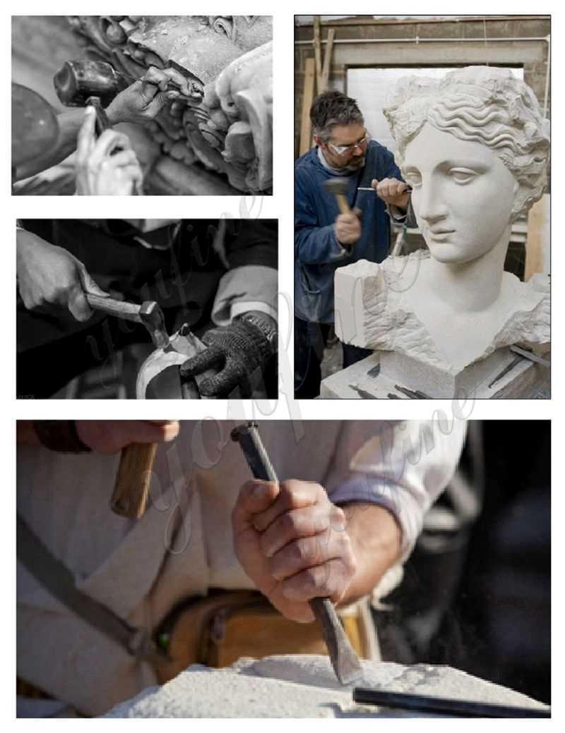 process of Carved Figure Porch Columns Home Depot