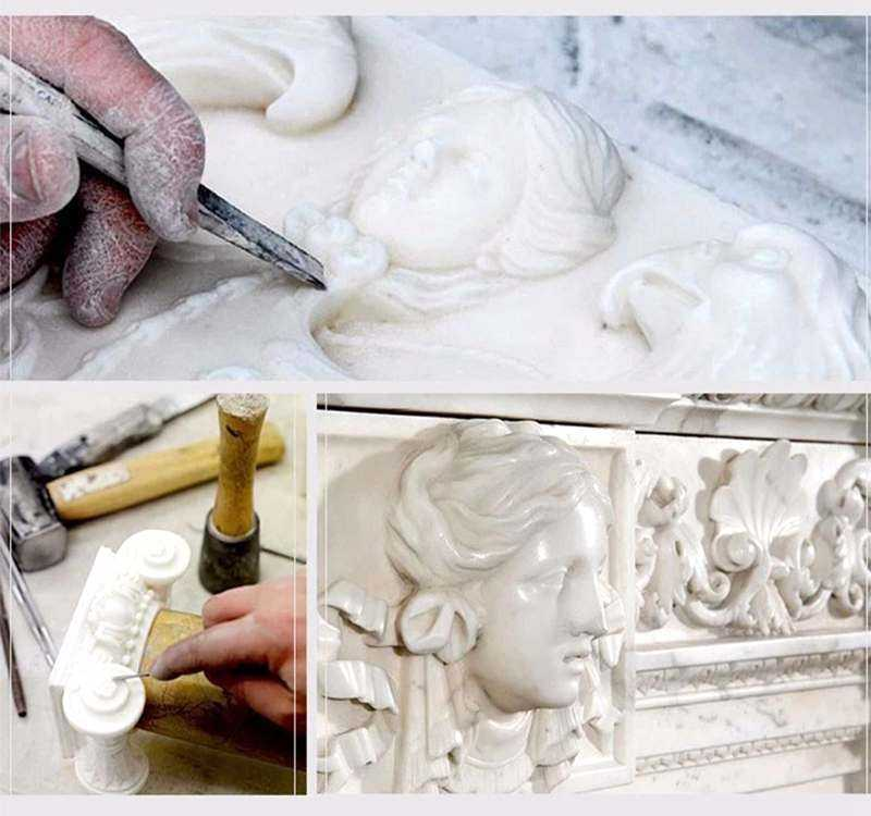 process of Garden Decoration Marble Jesus Sculpture