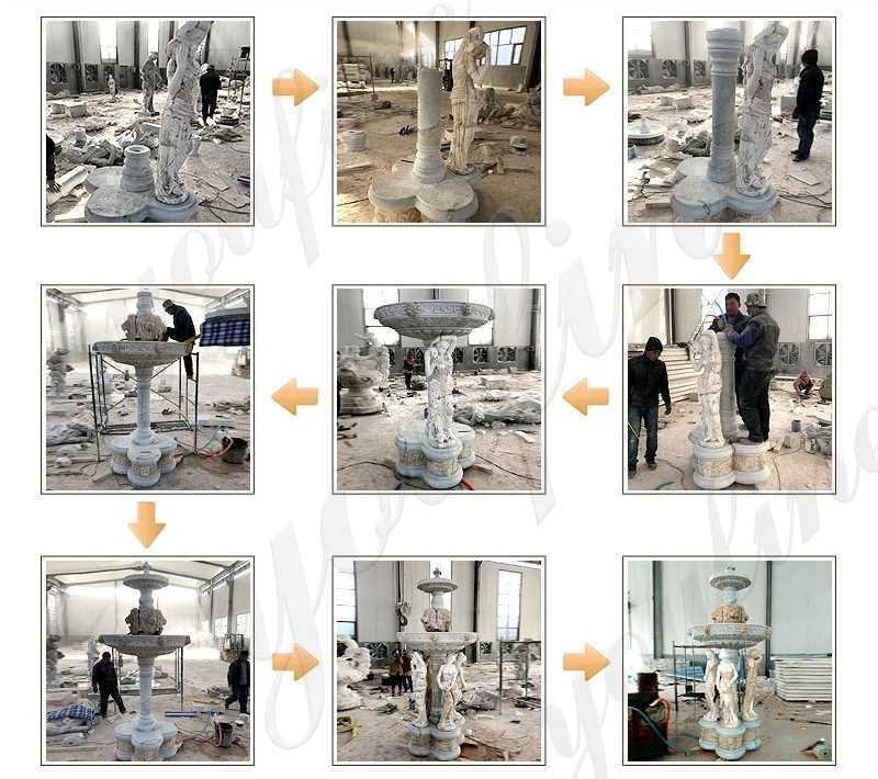 process of Large Outdoor Luxury Water Fountain