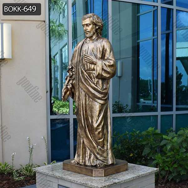 Life Size Bronze Saint Joseph Outdoor Statues for Garden Decoration for Sale BOKK-649