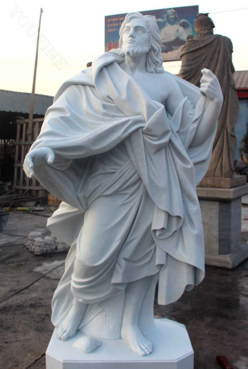 outdoor saint statues