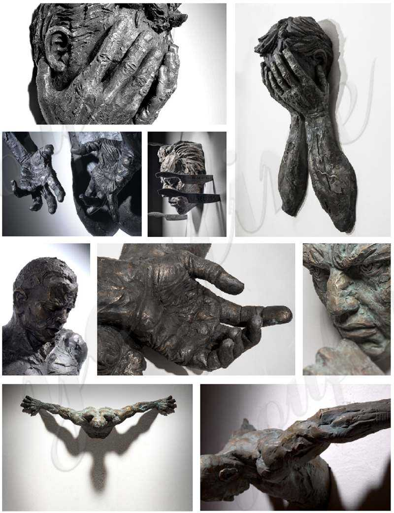 Amazing Sculptures That Emerge from Walls