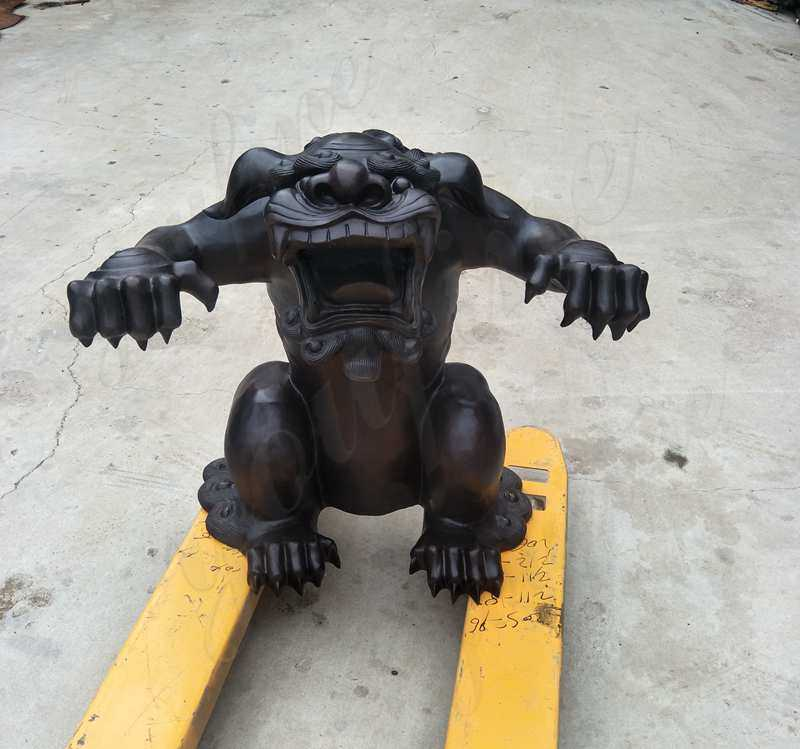 Beautiful Bronze Monster Sculpture Custom Made for Our American Customer