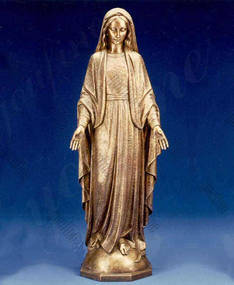 Best Autique Life Size Bronze Blessed Mother Mary Outdoor Statue