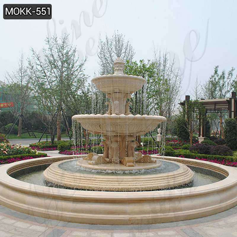 Best Large Tiered Beige Water Fountain for Garden Decor