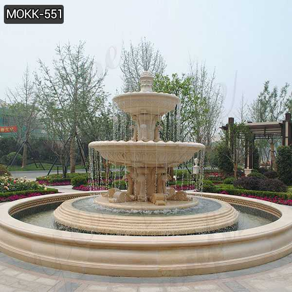 Buy Best Large Tiered Beige Water Fountain for Garden Decor MOKK-551
