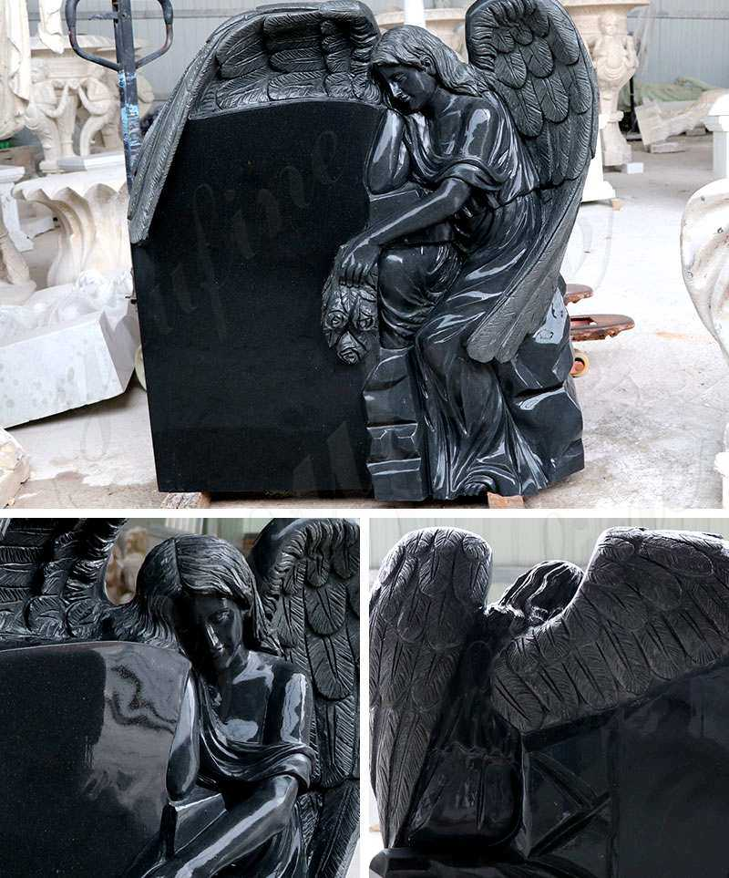 Black Granite Memorials Headstone