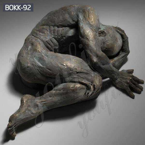 Bronze Abstract Man Wall Statue for sale
