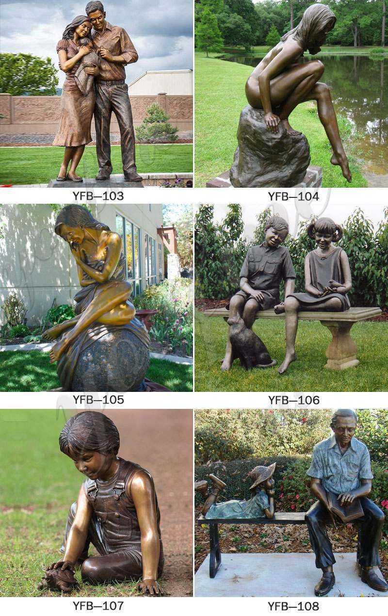 Bronze Figure Statue Custom Sculpture from Photo for sale