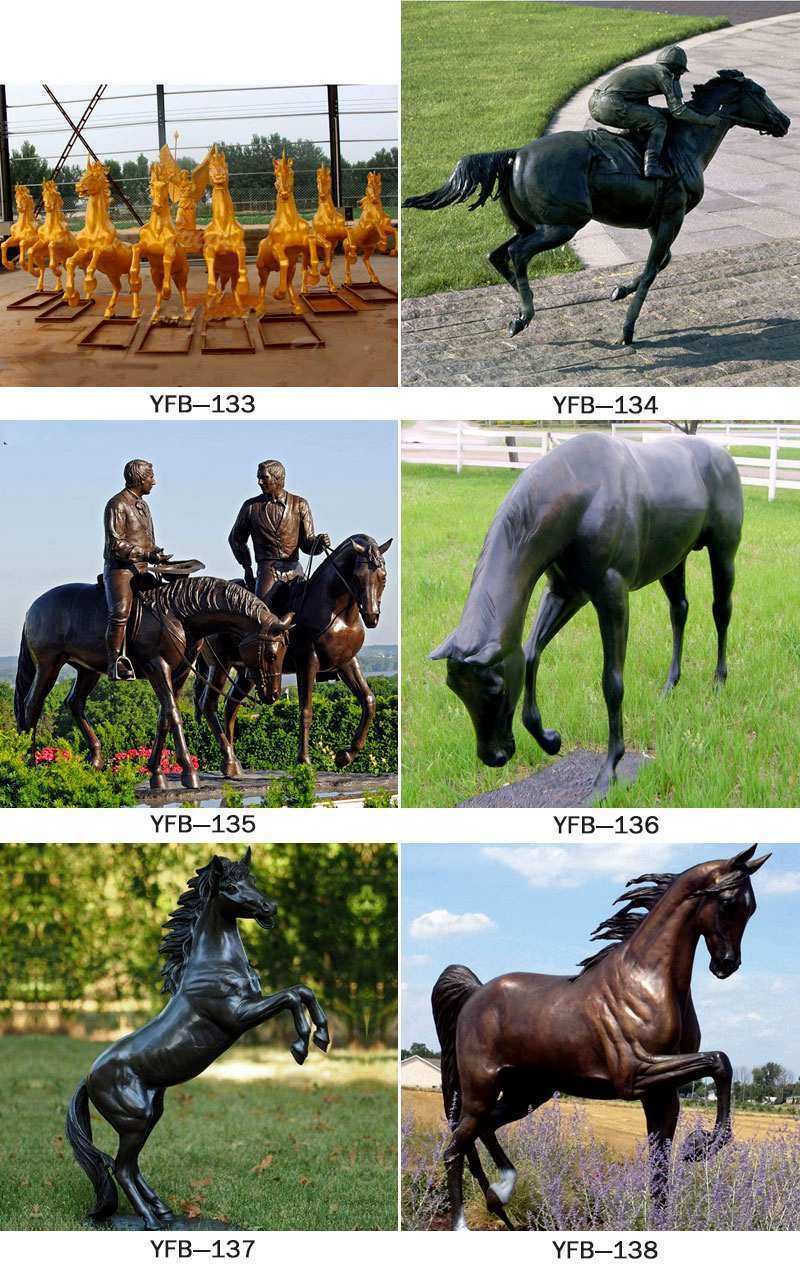 Bronze Horse Statue with Man Statue for Sale