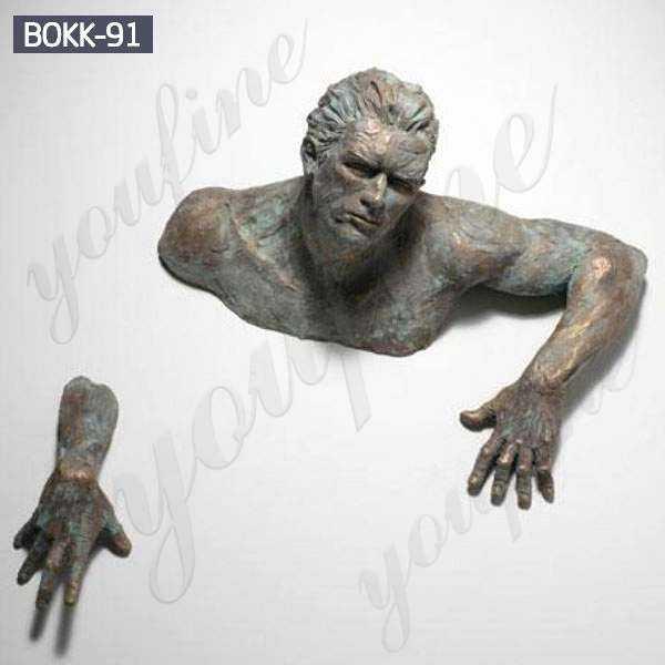 Bronze Matteo Pugliese Man Sculpture BOKK-441
