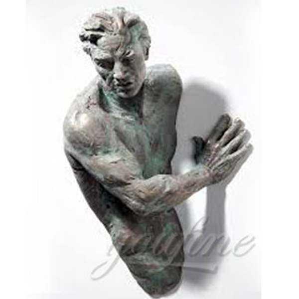 Bronze Matteo Pugliese Sculpture Amazing Sculptures That Emerge from Walls