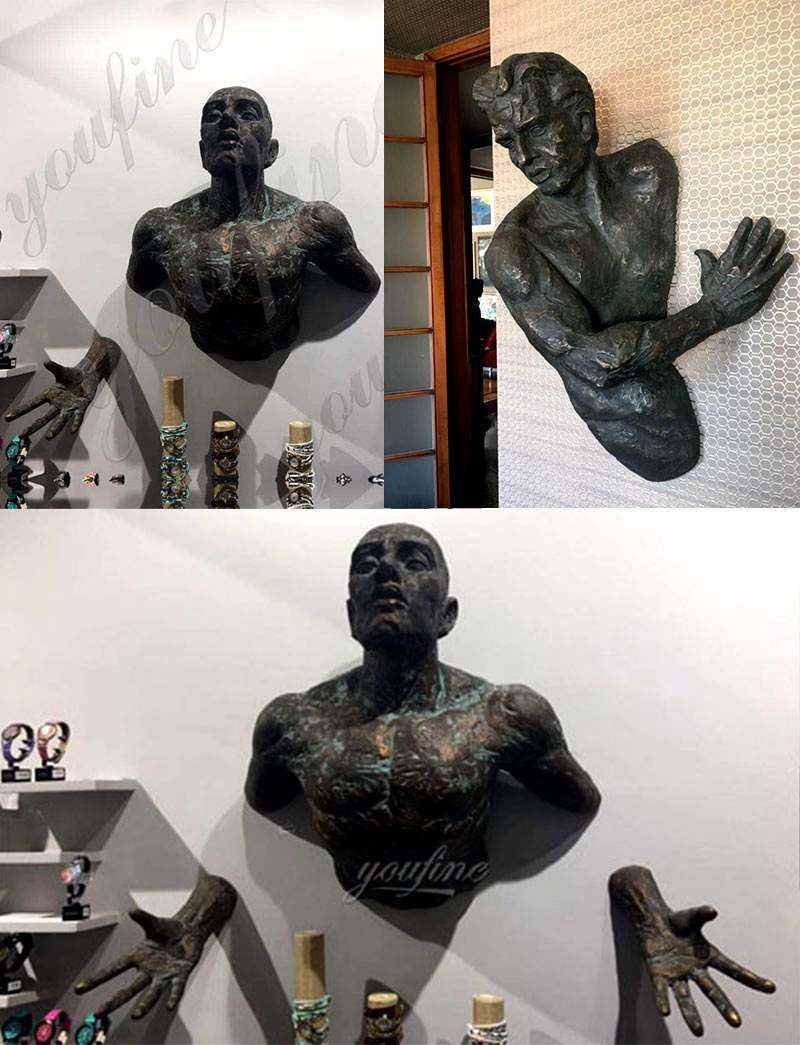 Bronze Matteo Pugliese Sculptures Amazing Sculptures That Emerge from Walls