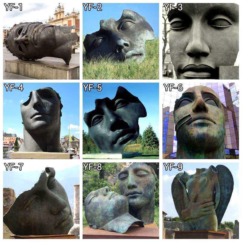 Buy Antique Casting Bronze Bust Sculpture by Igor Mitoraj Online
