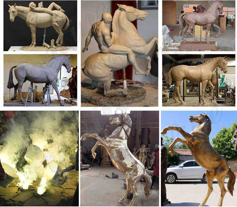 Casting Bronze Life Size Horse Statue for Garden Manufacturer