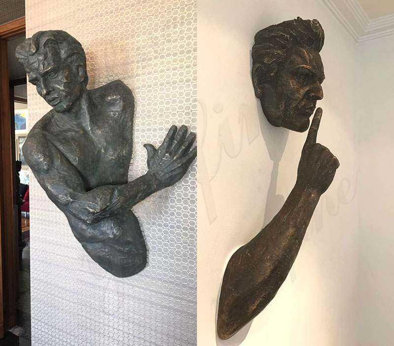 Casting Bronze Matteo Pugliese Art Sculpture Wall Statue BOKK-106