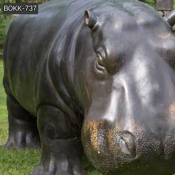Casting Hippo Bronze Sculpture Wildlife Animal Statue for Sale BOKK-737
