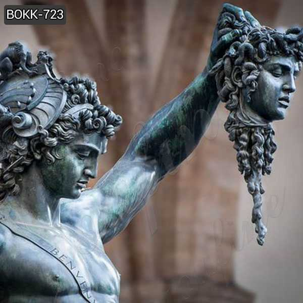 Classical Bronze Perseus with the Head of Medusa Sculpture