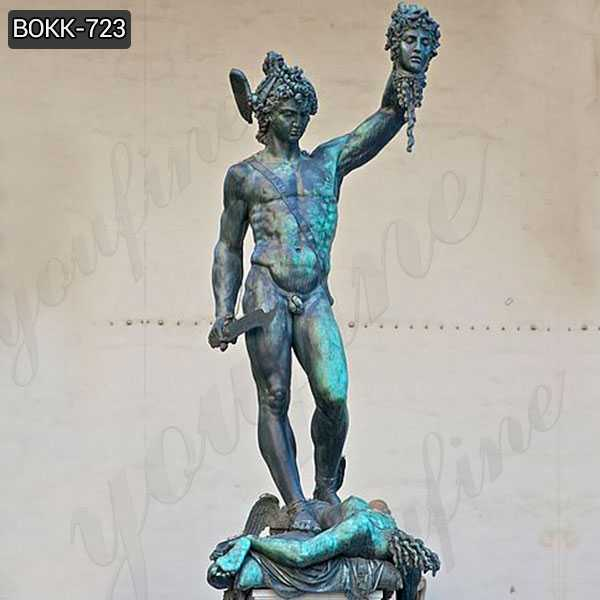 Classical Bronze Perseus with the Head of Medusa Sculptures
