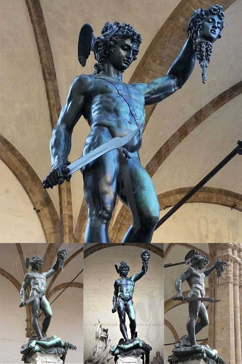 Classical Bronze Perseus with the Head of Medusa statue for Sale