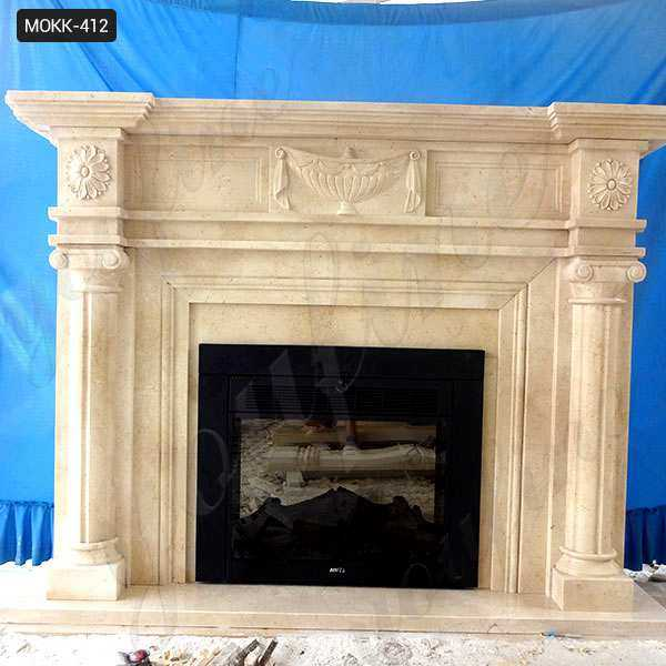 Contemporary Stone Fireplace Mantels and Surrounds Wholesale MOKK-412