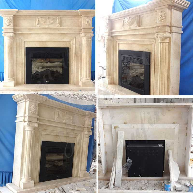 Contemporary Stone Fireplace Mantels and Surrounds for sale