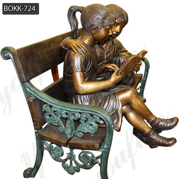 Custom Made Kids Reading A book on Beach Statue