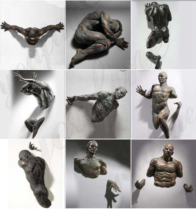 Factory Bronze Matteo Pugliese Art Sculpture Wall Statue