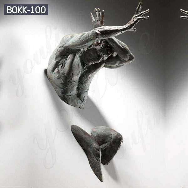 Factory Casting Bronze Matteo Pugliese Art Sculpture Wall Statue BOKK-106