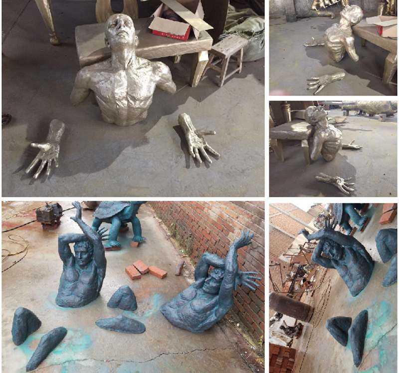 Factory Casting Bronze Matteo Pugliese Art Sculpture Wall Statue for sale