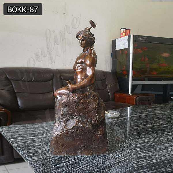 Famous Antique Roman Bronze Self Made Man Statues