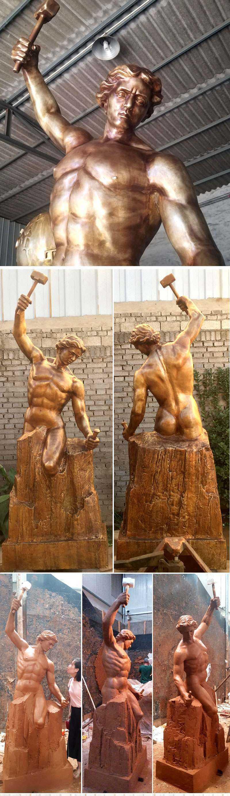 Famous Bronze Self Made Man Statue Replica
