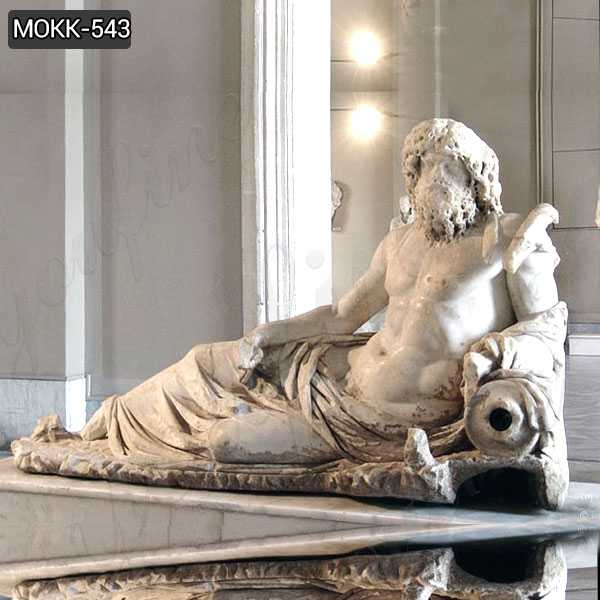 Famous Greek Ephesus God of the Rivers Oceanus Marble Statue MOKK-543