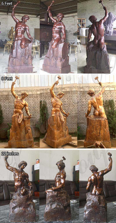 Famous Roman Bronze Self Made Man Statue