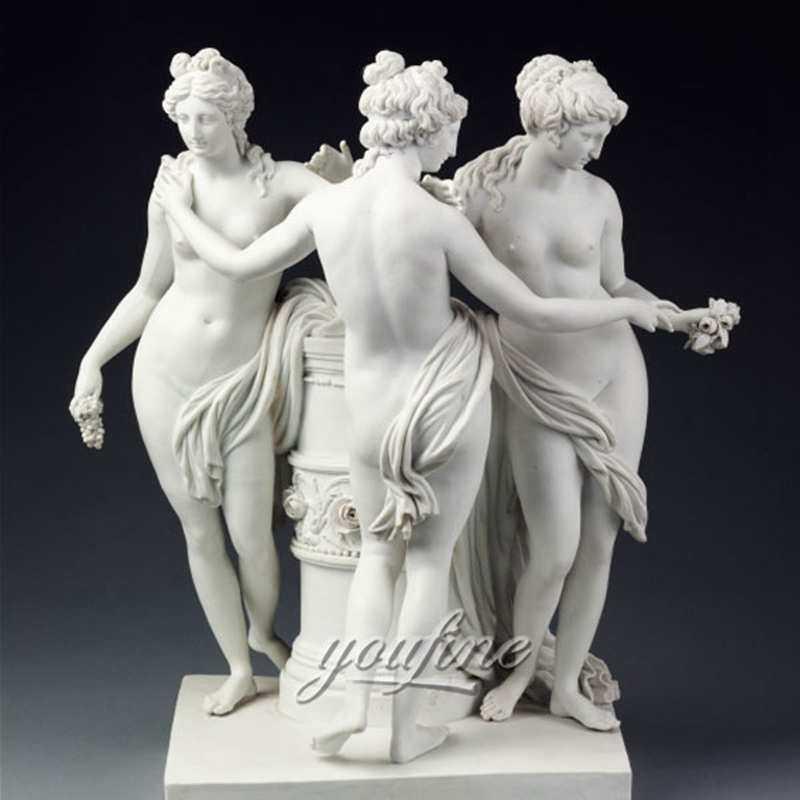 Famous art sculptures life size The Three Graces statue new design for sale