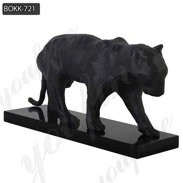 Fine Cast Solid Bronze Black Panther Sculptures