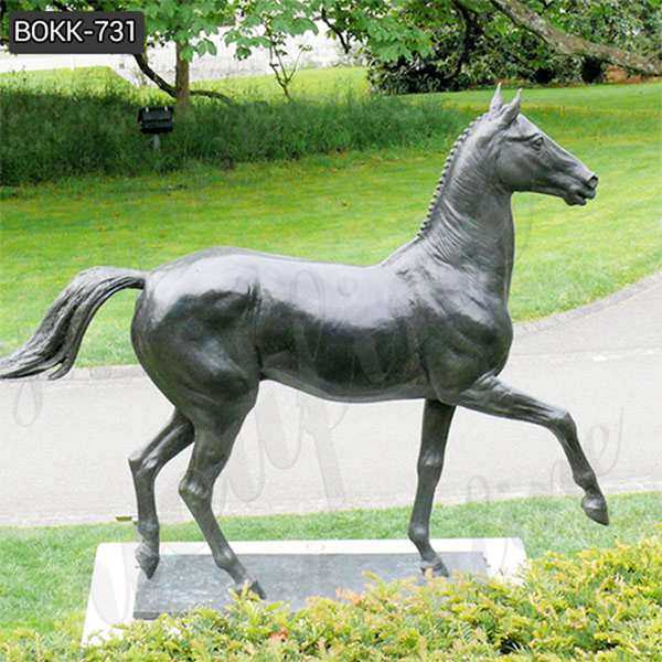 Antique Garden Bronze Standing Horse Sculpture from Factory Supply BOKK-731