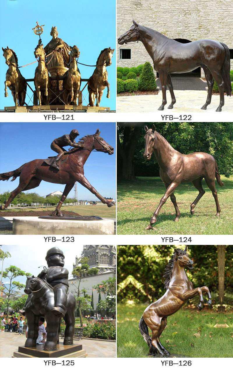 Garden Bronze Standing Horse Sculpture from Factory Supply