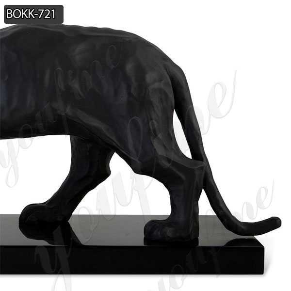 Good Prices Fine Cast Solid Bronze Black Panther Sculpture