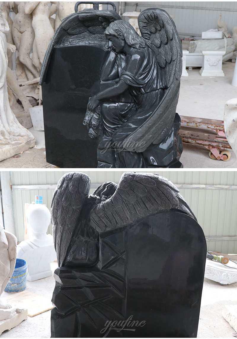 Granite Memorials Headstone Carving Wepping Angel Statue