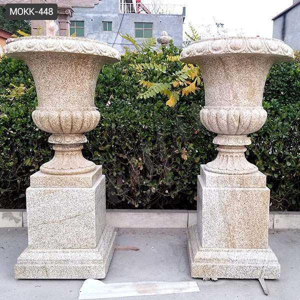 Natural Granite Modern Outdoor Plant Pots for Yard Decoration MOKK-448