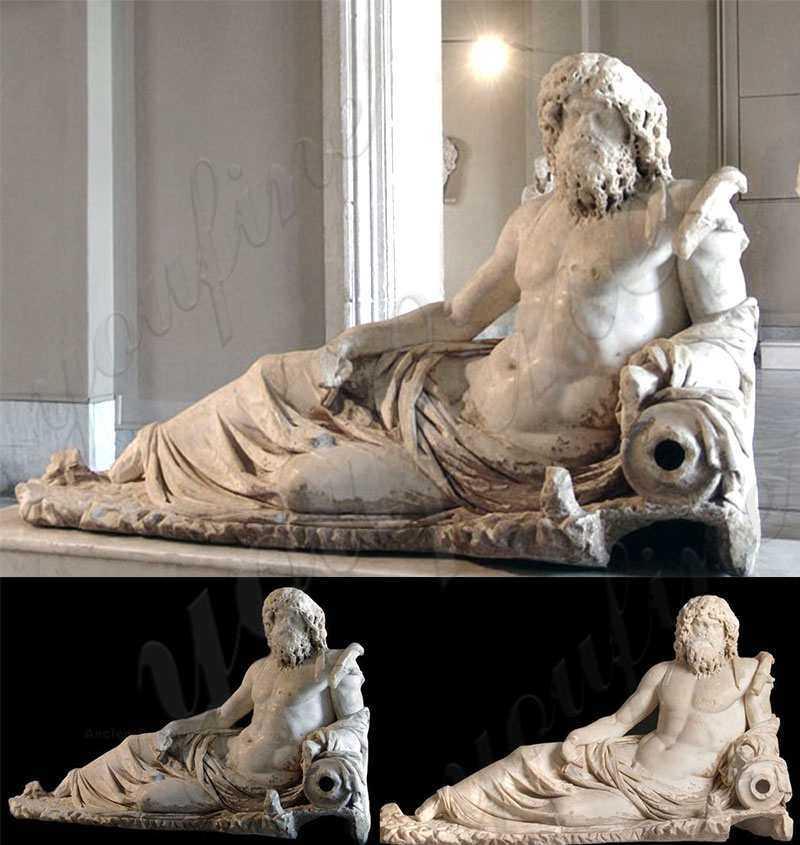Greek Ephesus God of the Rivers Oceanus Marble Statue