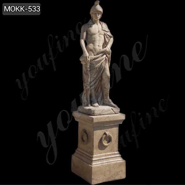 Handmade Famous Mars God of War Marble Statue Sculpture MOKK-533