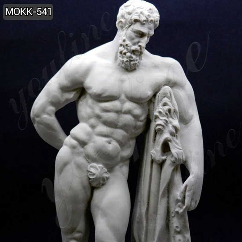 Handmade Marble Farnese Hercules Roman God Statue