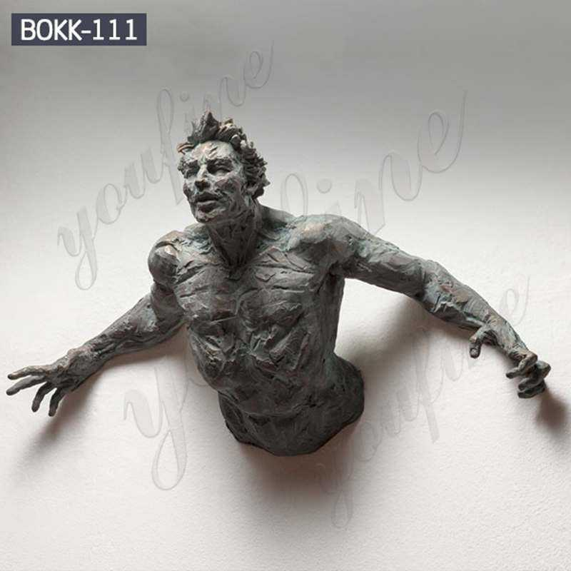 Hanging Bronze Abstract Man Wall Statue Replica