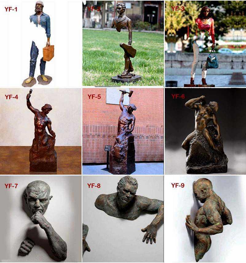 High Quality Abstract Bronze Matteo Pugliese Man Sculpture BOKK-441