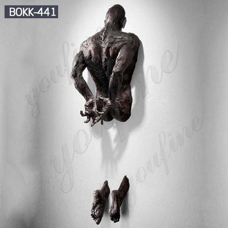 High Quality Abstract Bronze Matteo Pugliese Man Sculpture
